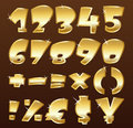 Gold numbers Royalty Free Stock Photography
