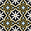 Gold ornamental seamless pattern in vintage style Royalty Free Stock Photo