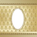 Gold ornate background Royalty Free Stock Photos
