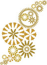 Gold ornate christmas design vector Royalty Free Stock Photo