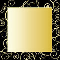 Gold Ornate Frame Stock Photography