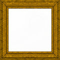 Gold ornate Picture frame Royalty Free Stock Image