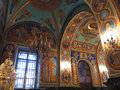 Gold ornated interior of orthodox church Royalty Free Stock Image