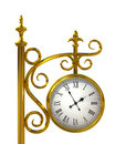 Gold Outdoor clock Royalty Free Stock Photos