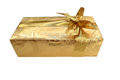 Gold package Royalty Free Stock Photo
