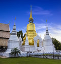 Gold pagoda at wat suan dok in chiang mai thailand north of Stock Photo
