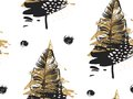 Gold Palm leaves pattern black background. Tropic palm. Palm leaf. Summer gold tropic palm. Golden palm summer tropic