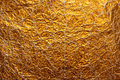 Gold paper wrinkled background texture Royalty Free Stock Image