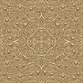 Gold pattern vintage background ornamental texture seamless Royalty Free Stock Images