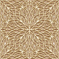 Gold pattern vintage texture abstract lattice ornament seamless Royalty Free Stock Image