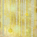 Gold and Pearl Christmas Decorations Background Stock Images