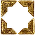 Gold Photo Corners Royalty Free Stock Photos