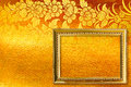 Gold picture frame. Stock Photo