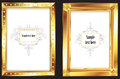 Gold picture frames Royalty Free Stock Photos