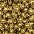 Gold piggybanks Royalty Free Stock Image