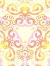 Gold Pink Artsy Swirls Pattern