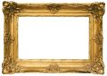 Gold Plated Wooden Picture Frame w/ Path Royalty Free Stock Photo