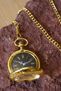 Gold Pocket Watch Royalty Free Stock Photos