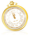 Gold Pocket Watch Stock Photo