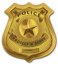 Gold Police Officer Badge