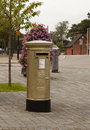 Gold Post Box Royalty Free Stock Photo