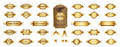 Gold premium luxury labels and blank labels vector design.
