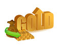 Gold prices increasing illustration design over a white background Stock Photography