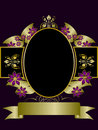 Gold and Purple Floral Background Royalty Free Stock Image
