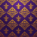 Gold purple pattern vector for background and wallpaper art Royalty Free Stock Image