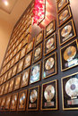 Gold records in wall hard rock cafe seminole in wollywood florida Stock Images