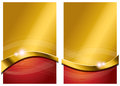 Gold red abstract background a and flowing Stock Photography