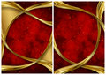 Gold and red abstract backgrounds Stock Photography
