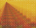 Gold Red Geometric Infinity Background Wallpaper Stock Photos