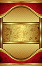 Gold and Red Menu Royalty Free Stock Image