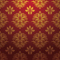 Gold red pattern vector for background and wallpaper art Royalty Free Stock Image