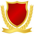 Gold and red shield Royalty Free Stock Photo