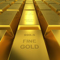 Gold reserve concept image golden bars repository d render Stock Photo
