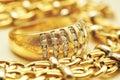 Gold ring macro