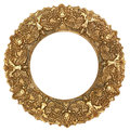 Gold Round Picture Frame Royalty Free Stock Photo