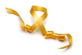 Gold satin ribbon