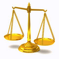 Gold scales 3d Stock Image