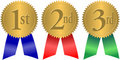 Gold Seal Award Ribbons/eps Royalty Free Stock Photo