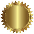 Gold Seal Badge Label Empty Blank Royalty Free Stock Photo