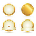 Gold Seal Set Royalty Free Stock Photos