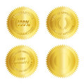 Gold seal /Stamp /Medal blank Royalty Free Stock Photos