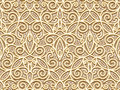 Gold seamless pattern abstract decorative floral swirls vintage background Royalty Free Stock Photography