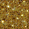 Gold seamless pattern of hexagons