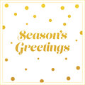 Gold Seasons Greetings Card De...