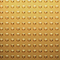 Gold sheet with rivet heads Royalty Free Stock Photos