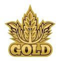 Gold sign vector illustration of the Royalty Free Stock Images